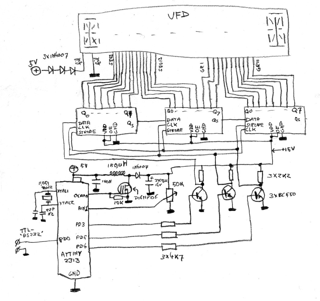 ended up with the following schematic for my vfd driver