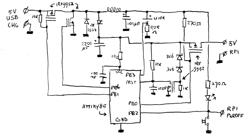 Sprites mods - Raspberry Pi micro arcade machine - Power supply